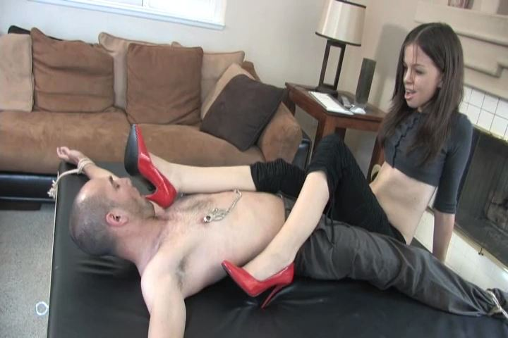 Miss Tiffany In Scene: My sexy red patent leather heels - MISS-TIFFANY - SD/480p/MP4