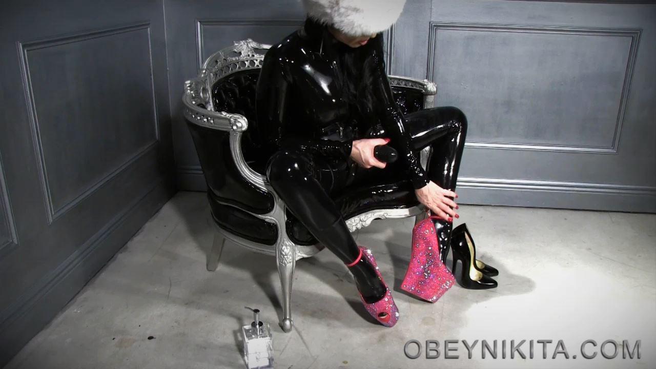 Mistress Nikita In Scene: Shiny Latex High Heels - OBEYNIKITA - HD/720p/MP4