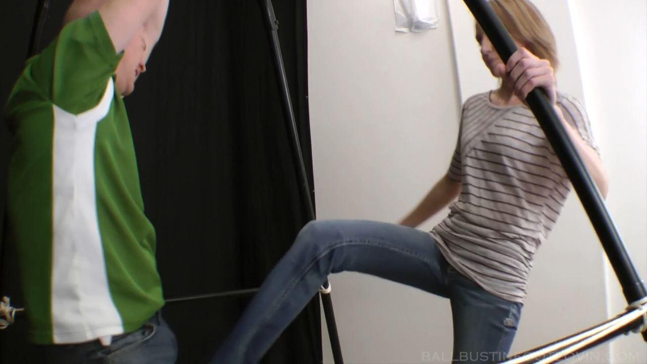 Carrot Stealing Looser gets his balls kicked - FETLOVIN / BALLBUSTINFOOTLOVIN.FETLOVIN - HD/720p/MP4