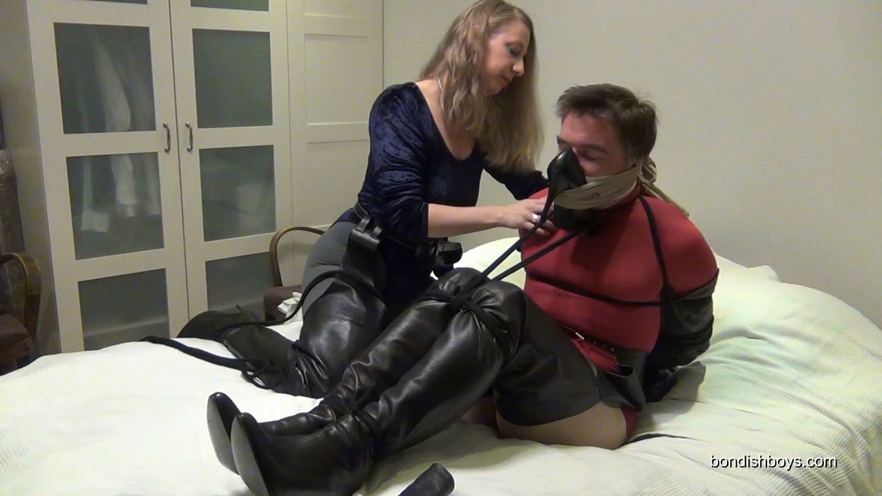 Lady Renee In Scene: TIED UP AND GAGGED IN BIONDINI CHAPBOOTS - BONDISHBOYS - HD/720p/MP4