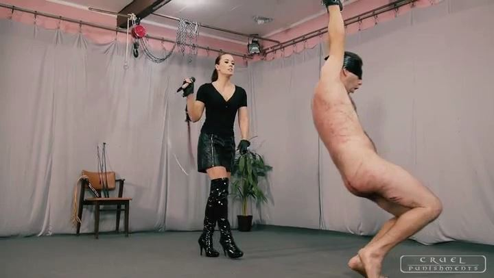 Mistress Anett In Scene: Brutality in three phases Part 2 - CRUEL PUNISHMENTS - SEVERE FEMDOM - SD/406p/MP4