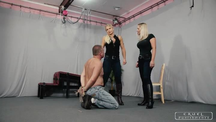 Mistress Zita, Mistress Melanie In Scene: Dirty boot cleaner - CRUEL PUNISHMENTS - SEVERE FEMDOM - SD/406p/MP4
