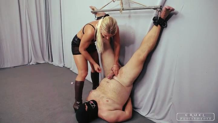 Mistress Zita In Scene: Forced cum eating - CRUEL PUNISHMENTS - SEVERE FEMDOM - SD/406p/MP4