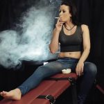 Mistress Anette In Scene: A fine cigarette – CRUEL PUNISHMENTS – SEVERE FEMDOM – SD/412p/MP4