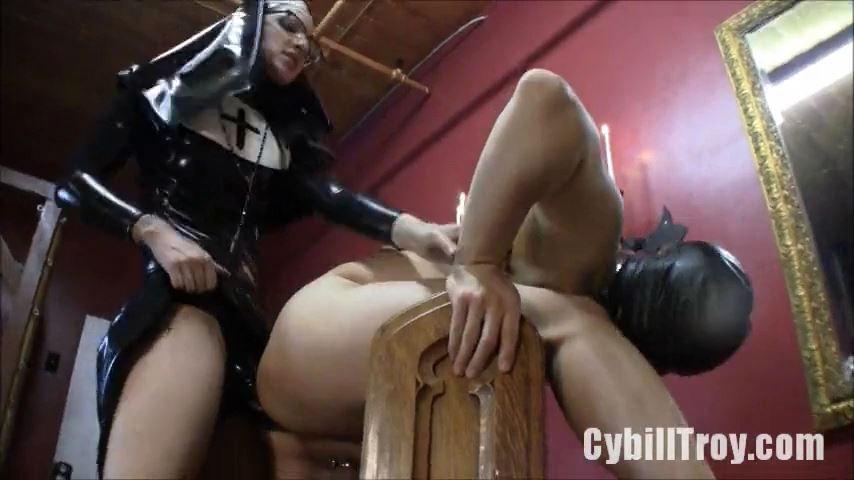 Mistress Cybill Troy In Scene: Rubber Nun Molestation - CYBILL TROY`S DTLA DOMINAS / CYBILLTROY - SD/480p/MP4