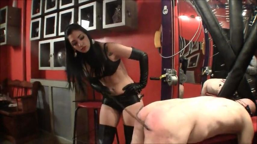 Mistress Cybill Troy In Scene: Leather Caning - CYBILL TROY`S DTLA DOMINAS / CYBILLTROY - SD/480p/MP4