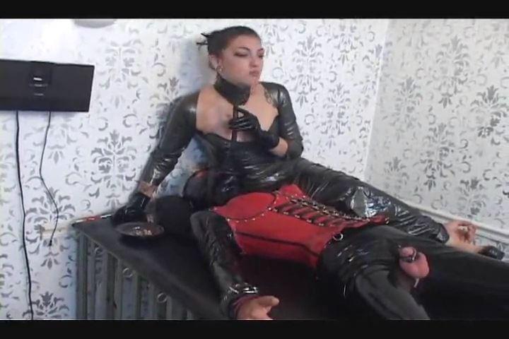 Mistress Cybill Troy In Scene: Forced Smoke Inhalation in Full Rubber - CYBILL TROY`S DTLA DOMINAS / CYBILLTROY - SD/480p/MP4