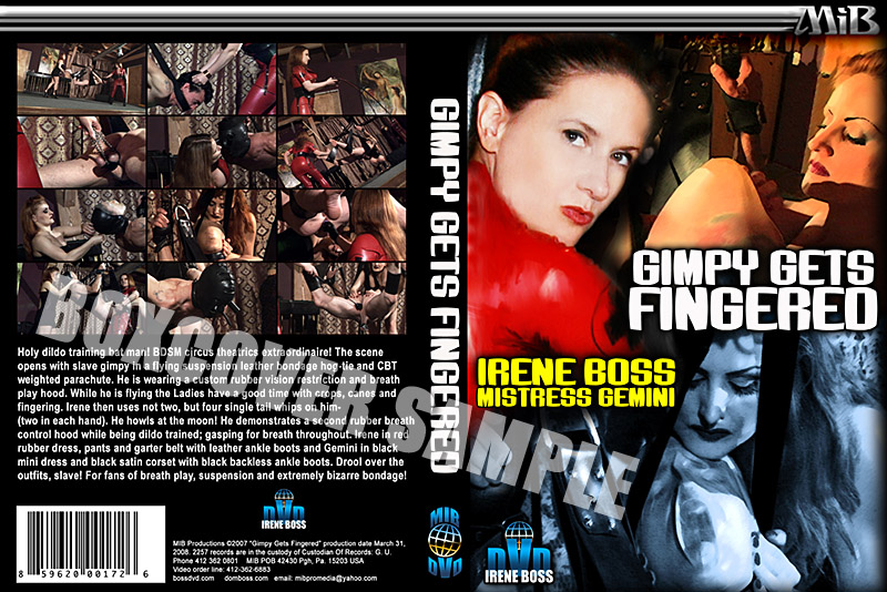 Domina Irene Boss In Scene: Gimpy gets fingered - DOMBOSS / MIB PRODUCTIONS - SD/480p/MP4