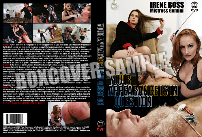 Domina Irene Boss In Scene: Your appearance is in question - DOMBOSS / MIB PRODUCTIONS - SD/480p/MP4