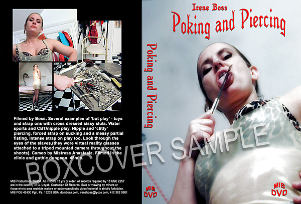 Domina Irene Boss In Scene: Poking and piercing - DOMBOSS / MIB PRODUCTIONS - SD/480p/MP4