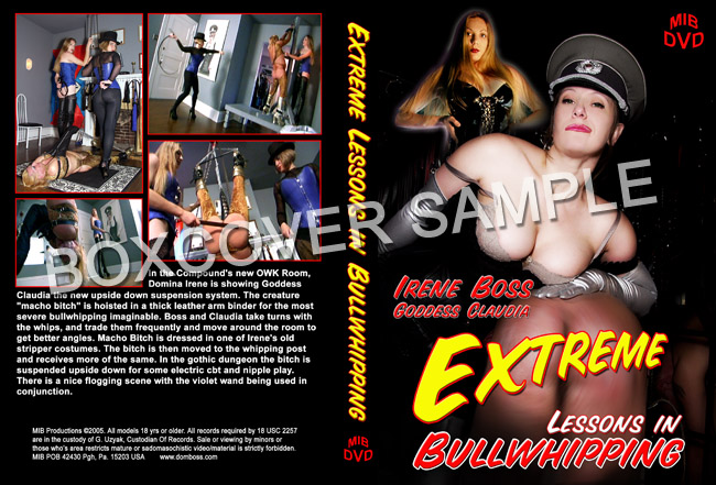 Goddess Claudia, Domina Irene Boss In Scene: Extreme Lessons in Bullwhipping - DOMBOSS / MIB PRODUCTIONS - SD/480p/MP4
