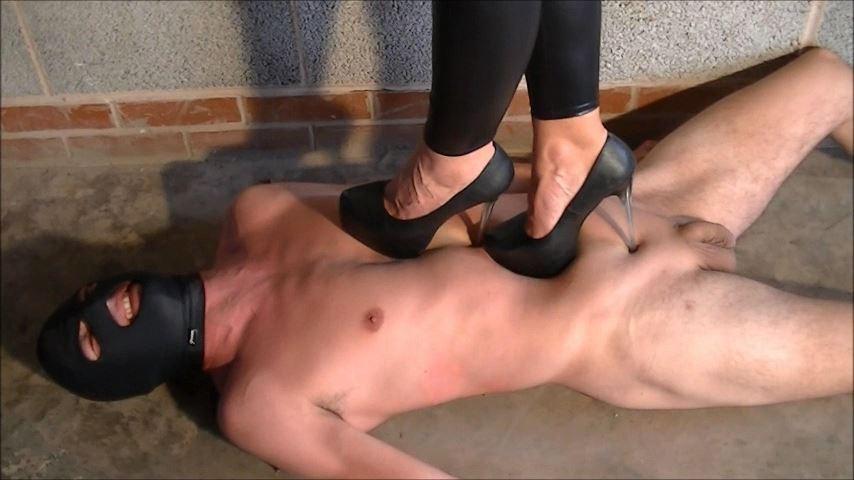 UK Mistress Elise In Scene: Sadistic Pin Heel Pain - ELISE BULLIES BALLS UK - SD/480p/MP4
