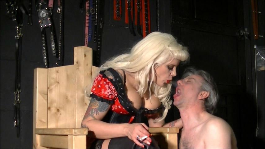 UK Mistress Elise In Scene: Swallow This Ash - ELISE BULLIES BALLS UK - SD/480p/MP4