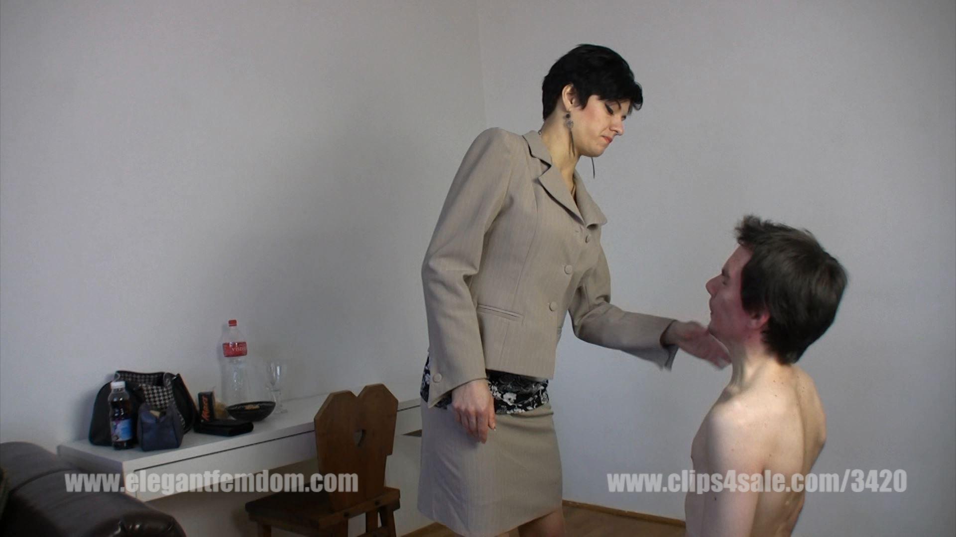 Short faceslapping clip with mistress - ELEGANTFEMDOM - FULL HD/1080p/MP4