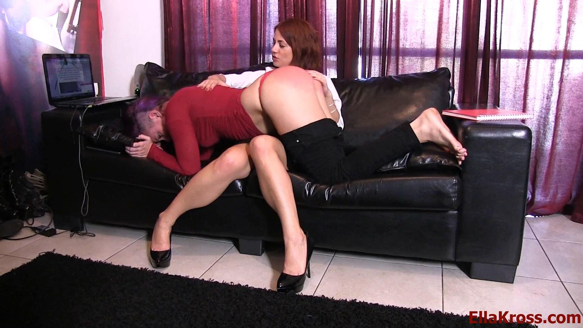 Ella Kross In Scene: Punishing My Slave Girl with Spanking - ELLAKROSS - FULL HD/1080p/MP4