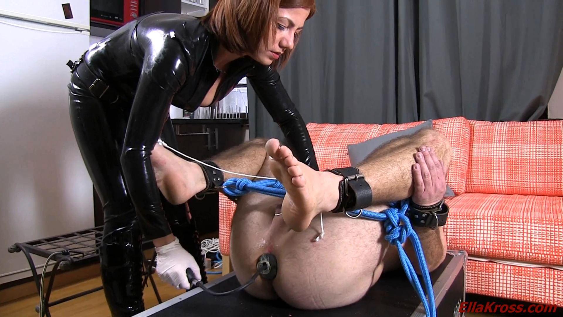 Ella Kross In Scene: Torturing My Slave's Feet, Asshole, and Mouth - ELLAKROSS - FULL HD/1080p/MP4