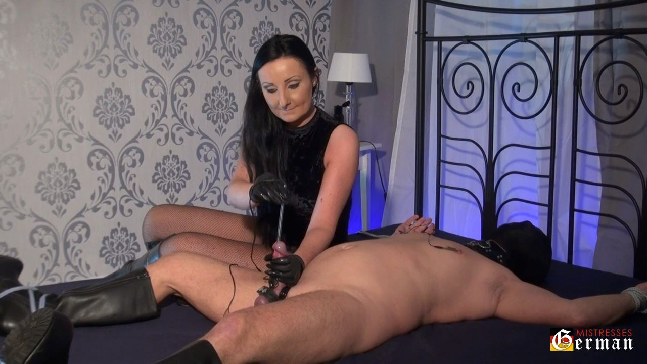 Lady Luciana In Scene: CBT with the electro sound - GERMANMISTRESSES - HD/720p/MP4