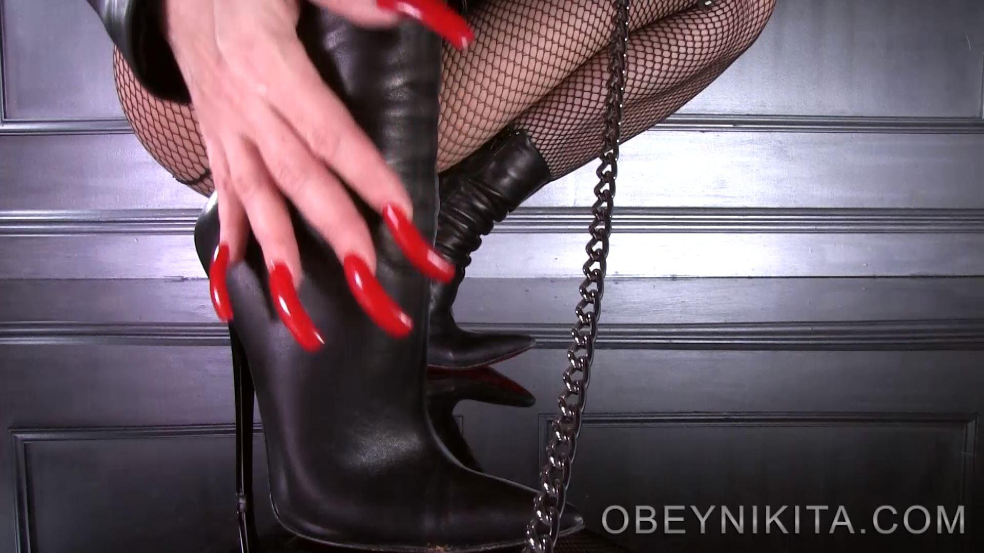 Mistress Nikita In Scene: Shoe Slave Pov Six Inch Boots - OBEYNIKITA - FULL HD/1080p/MP4