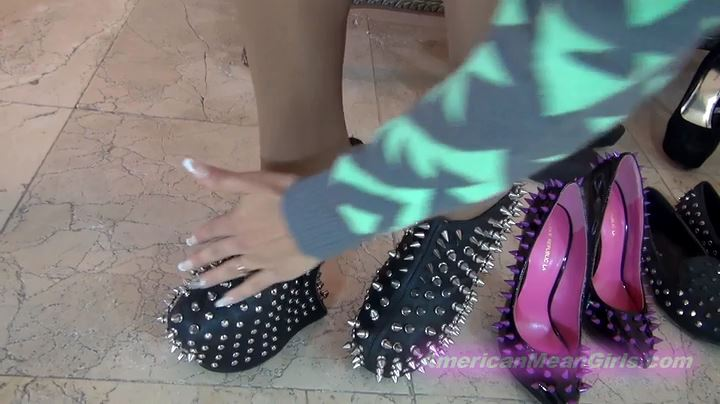 Goddess Rodea In Scene: Virtual Spiked Shoe Kicks - THE MEAN GIRLS POV - SD/404p/MP4