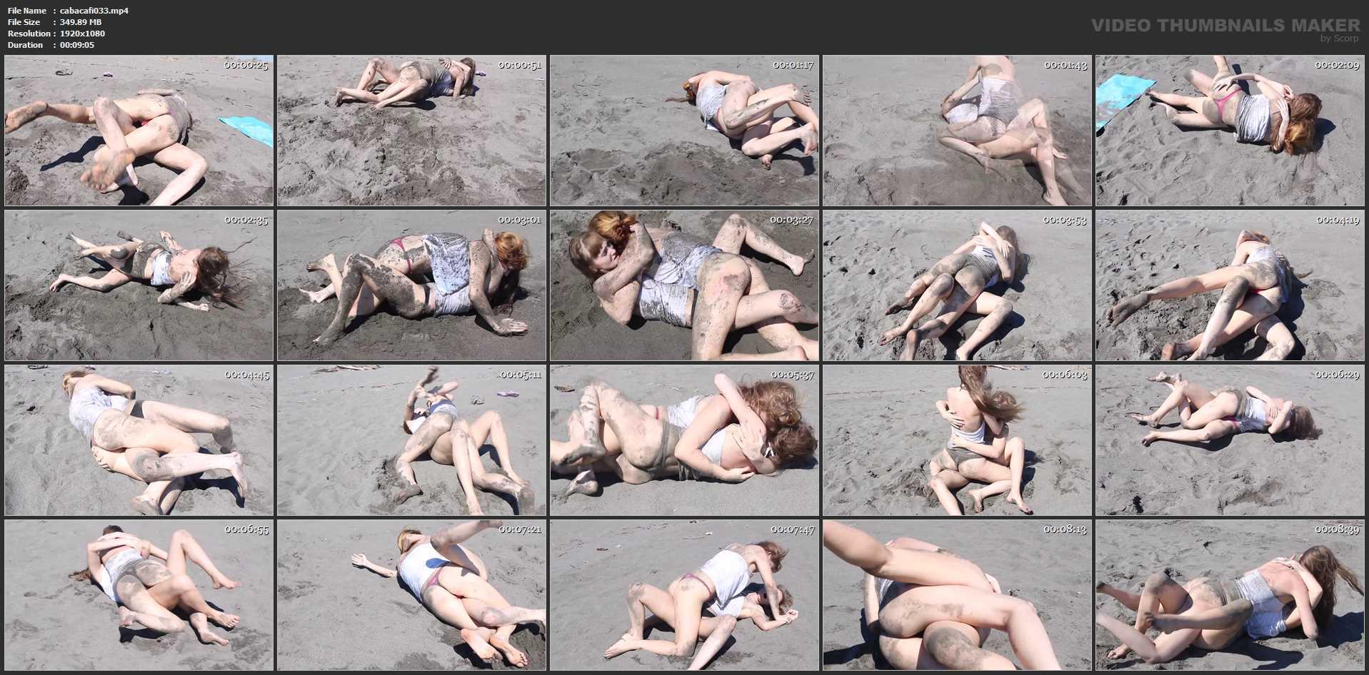 CatBall on the Beach Part 2 - CATBALL CATFIGHT AND SEXFIGHT - FULL HD/1080p/MP4