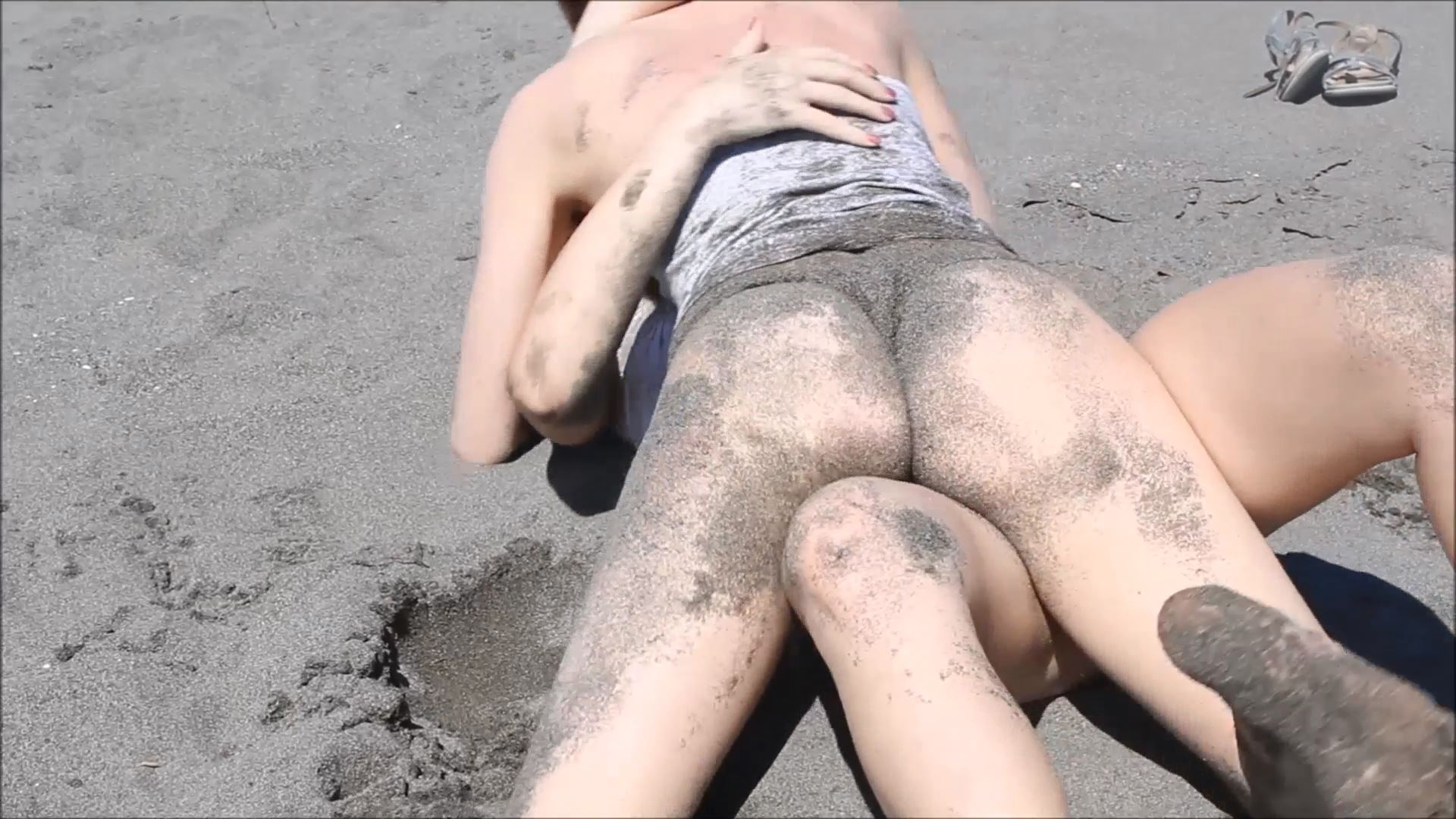 CatBall on the Beach Part 2 - CATBALL CATFIGHT AND SEXFIGHT - FULL HD/1080p/MP4