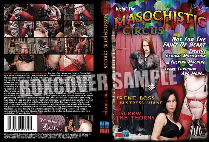 Irene Boss, Mistress Shane, slave Kermit In Scene: The Masochistic Circus - DOMBOSS / MIB PRODUCTIONS - SD/480p/MP4