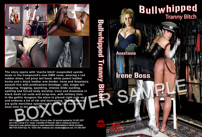 Mistress Anastasia, Domina Irene Boss In Scene: Bullwhipped Tranny Bitch - DOMBOSS / MIB PRODUCTIONS - SD/480p/MP4
