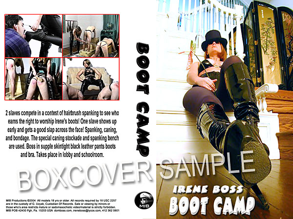 Domina Irene Boss In Scene: Boot Camp - DOMBOSS / MIB PRODUCTIONS - SD/480p/MP4
