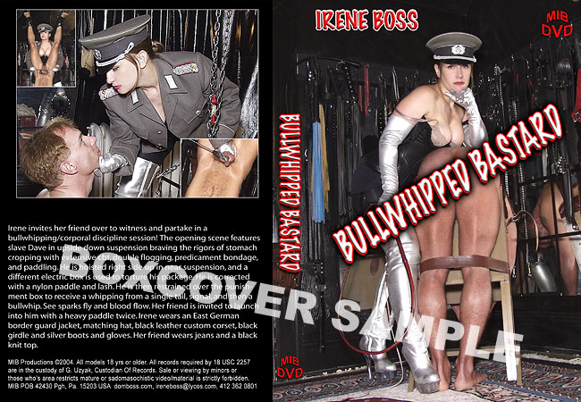 Domina Irene Boss In Scene: Bullwhipped Bastard - DOMBOSS / MIB PRODUCTIONS - SD/480p/MP4