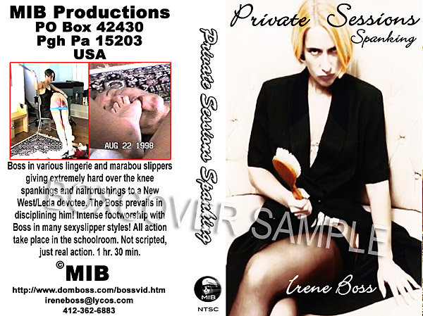 Domina Irene Boss In Scene: Private Sessions bullwhipping - DOMBOSS / MIB PRODUCTIONS - SD/480p/MP4
