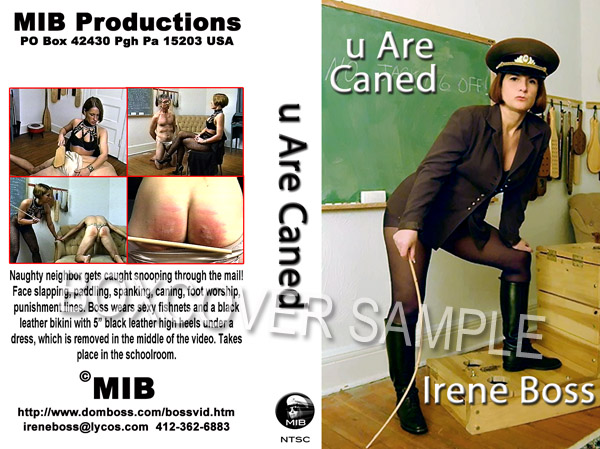 Domina Irene Boss In Scene: You are caned - DOMBOSS / MIB PRODUCTIONS - SD/480p/MP4