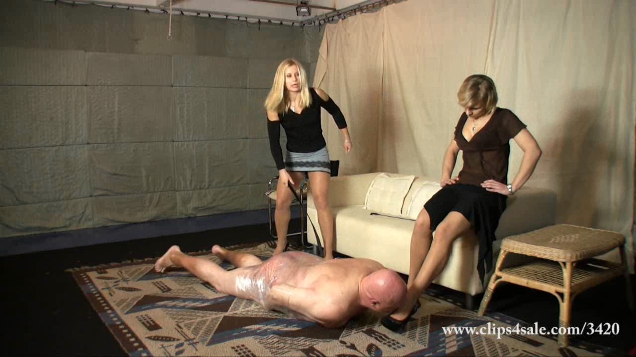�ruel femdom whipping and humiliation clip by two mistresses - ELEGANTFEMDOM - HD/720p/WMV