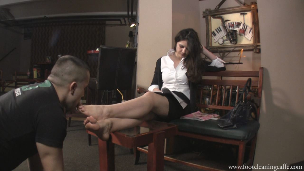 Foot Worship Caffe update 002 - FOOT CLEANING CAFFE - HD/720p/MP4
