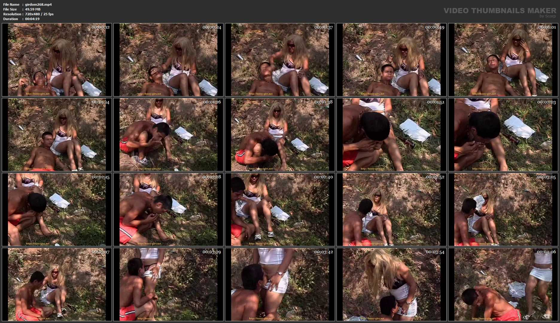 Peasants 03 Foot adoration and crotch kissing for rude girl - BOSSY-GIRLS / GIRLSDOMINATION - SD/480p/MP4