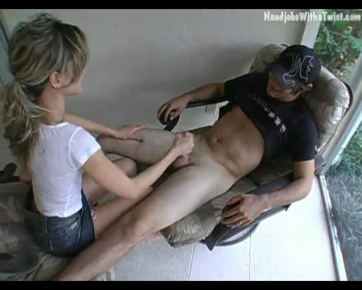 Back Porch Blowjob with Handjob Finish - HANDJOBSWITHATWIST - SD/576p/MP4
