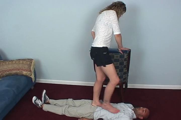 Connor is the rug again as Mistress tramples him with flip-flops - HEADUNDERHEELS - SD/480p/MP4