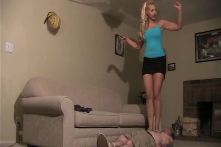 Mistress Nicole jumping from a couch and landing her full weight - HEADUNDERHEELS - SD/480p/MP4