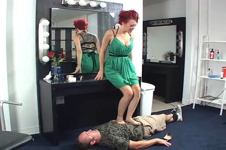 Miss Crash is using her slave as a human footstool - HEADUNDERHEELS - SD/480p/MP4
