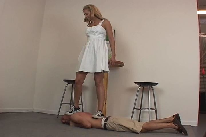 Mistress Nicole tramples connor in her black converse shoes - HEADUNDERHEELS - SD/480p/MP4