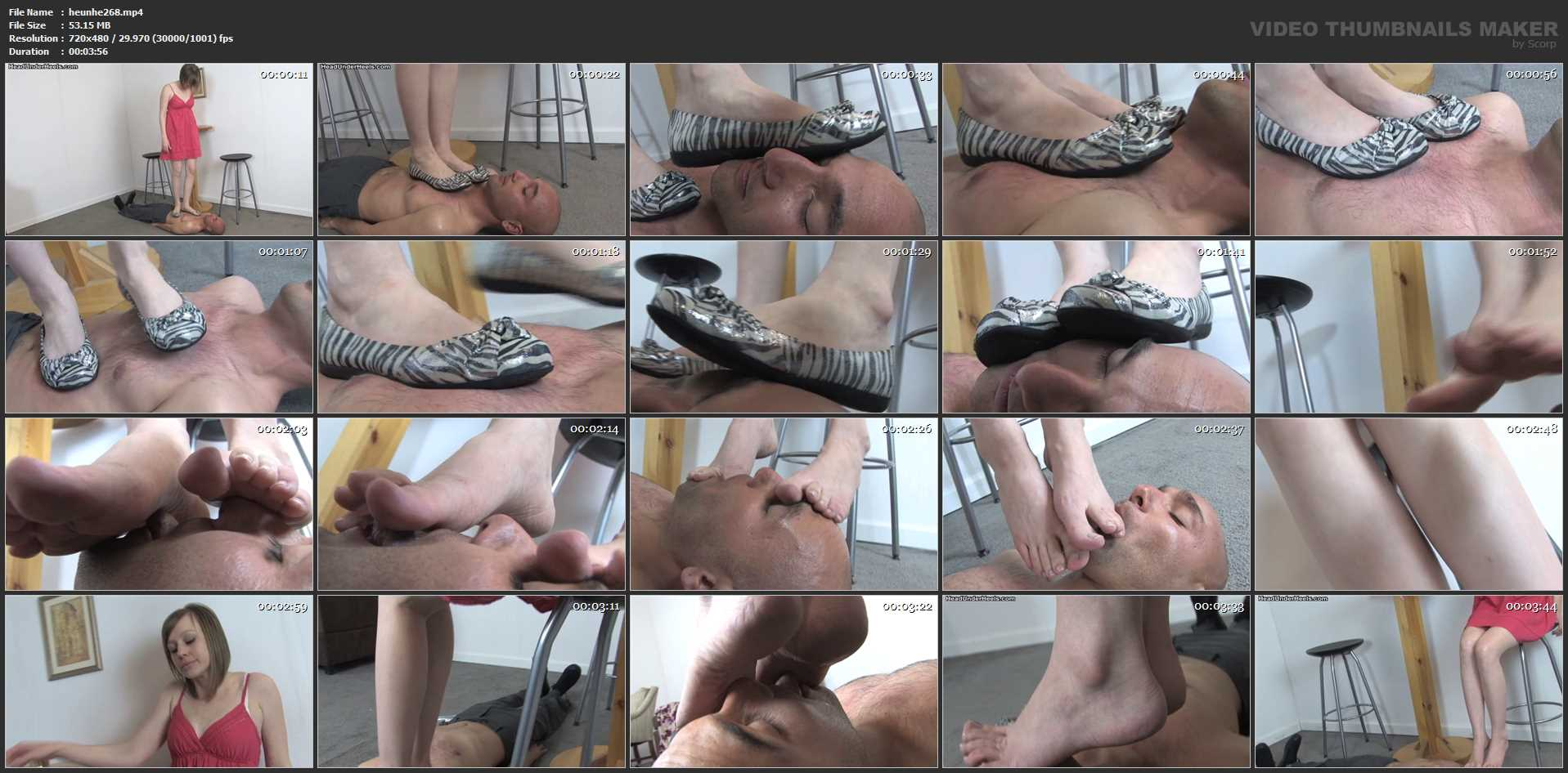 Kylie is trampling all over her shirtless slave in flat shoes - HEADUNDERHEELS - SD/480p/MP4