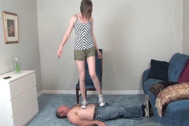 Kylie tramples Ladies Floor in her Converse sneakers - HEADUNDERHEELS - SD/480p/MP4