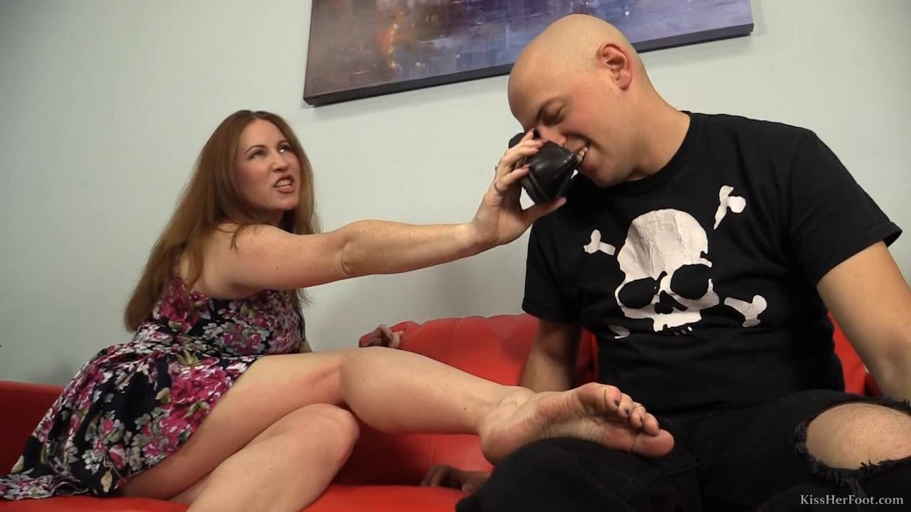 Shauna's red couch confessions - KISSHERFOOT - HD/720p/MP4