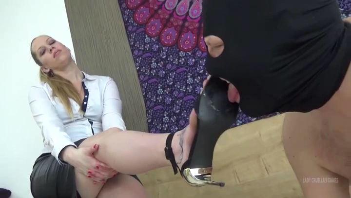 Lady Cruella In Scene: Domina therapy - Lick his cum from my high heels - LADY CRUELLAS GAMES - SD/406p/MP4