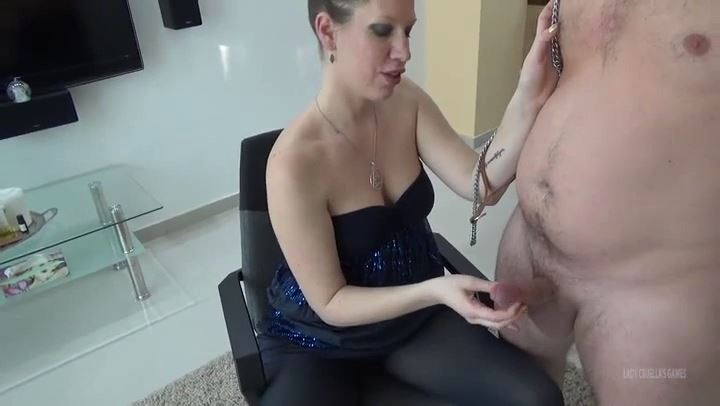 Lady Cruella In Scene: Leashed slave - Ruined orgasm - LADY CRUELLAS GAMES - SD/406p/MP4