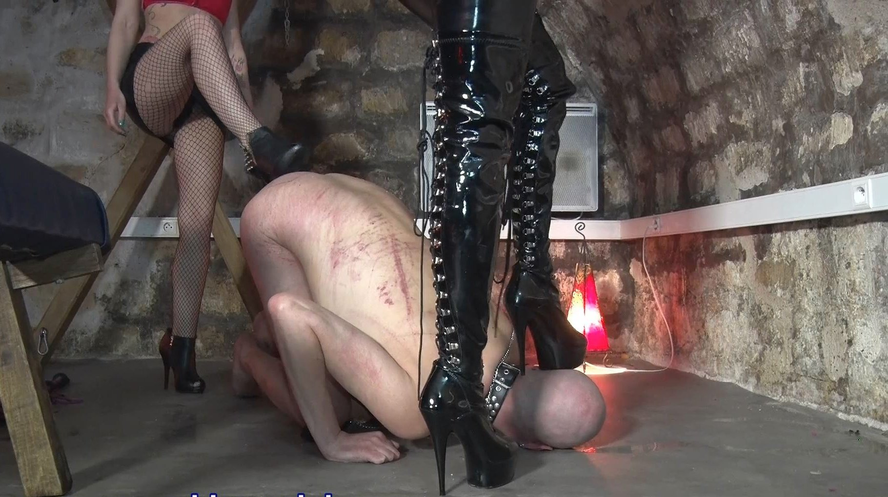 GODDESS RACHEL, GODDESS DEMONIA In Scene: SLAVE BOB - UNDERGROUND DUNGEON SERIES - YOUNG GODDESS LAND - FULL HD/1080p/MP4