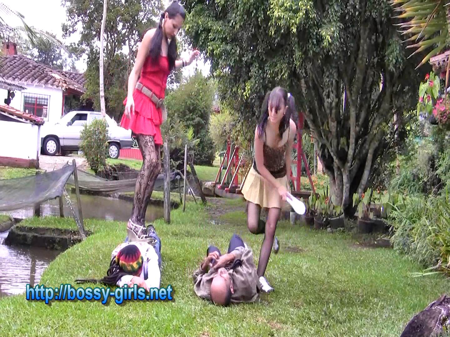 MS. KASR, MS. Leila In Scene: EXTROVERT STUDENTS 06 Trampling of the Morons - BOSSY GIRLS - FULL HD/1080p/WMV