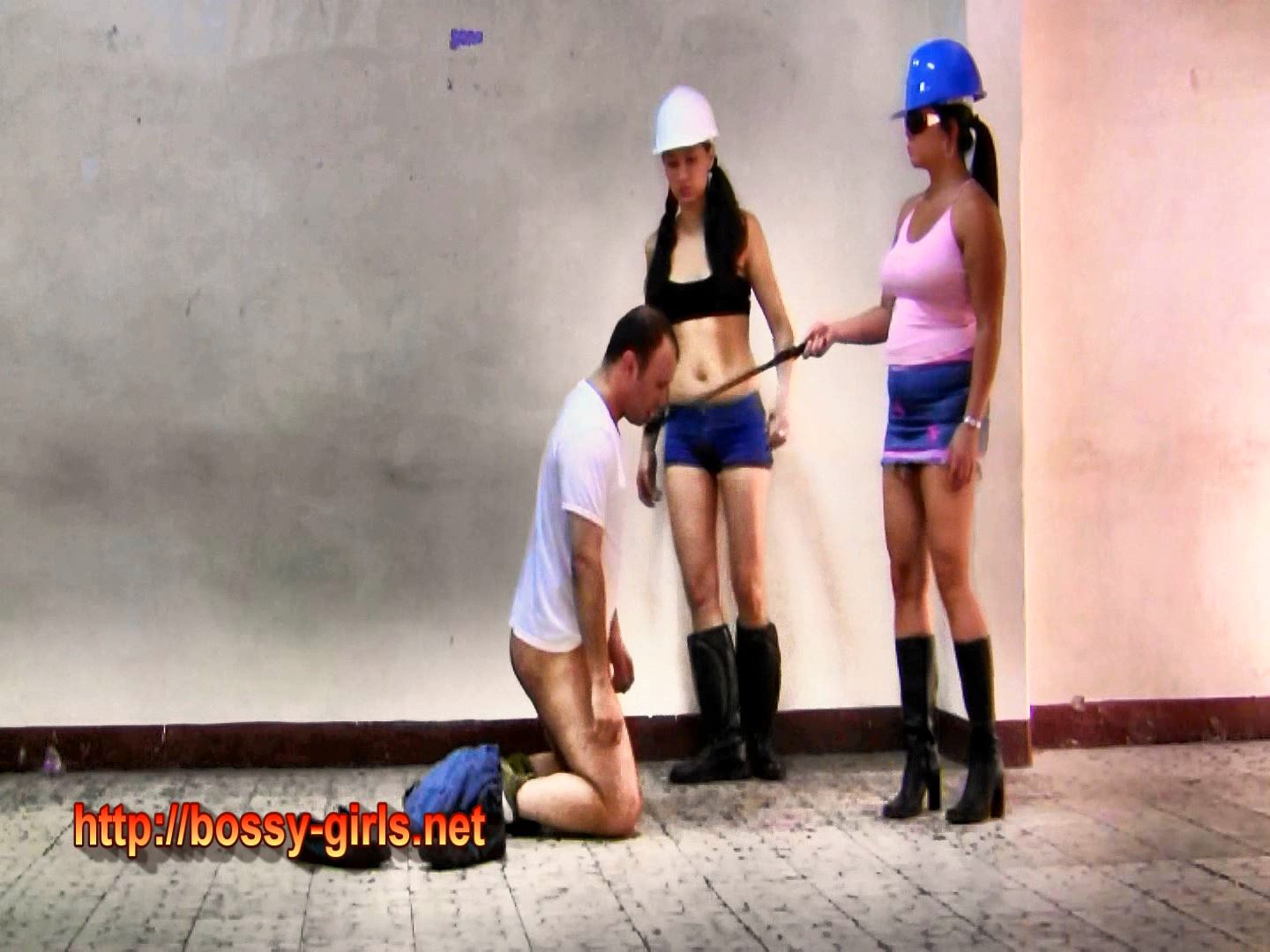 Mistress Leila, Mistress Dahlia In Scene: SADISTIC FACTORY GIRLS 03 Muscle Strengthening - BOSSY GIRLS - FULL HD/1080p/WMV