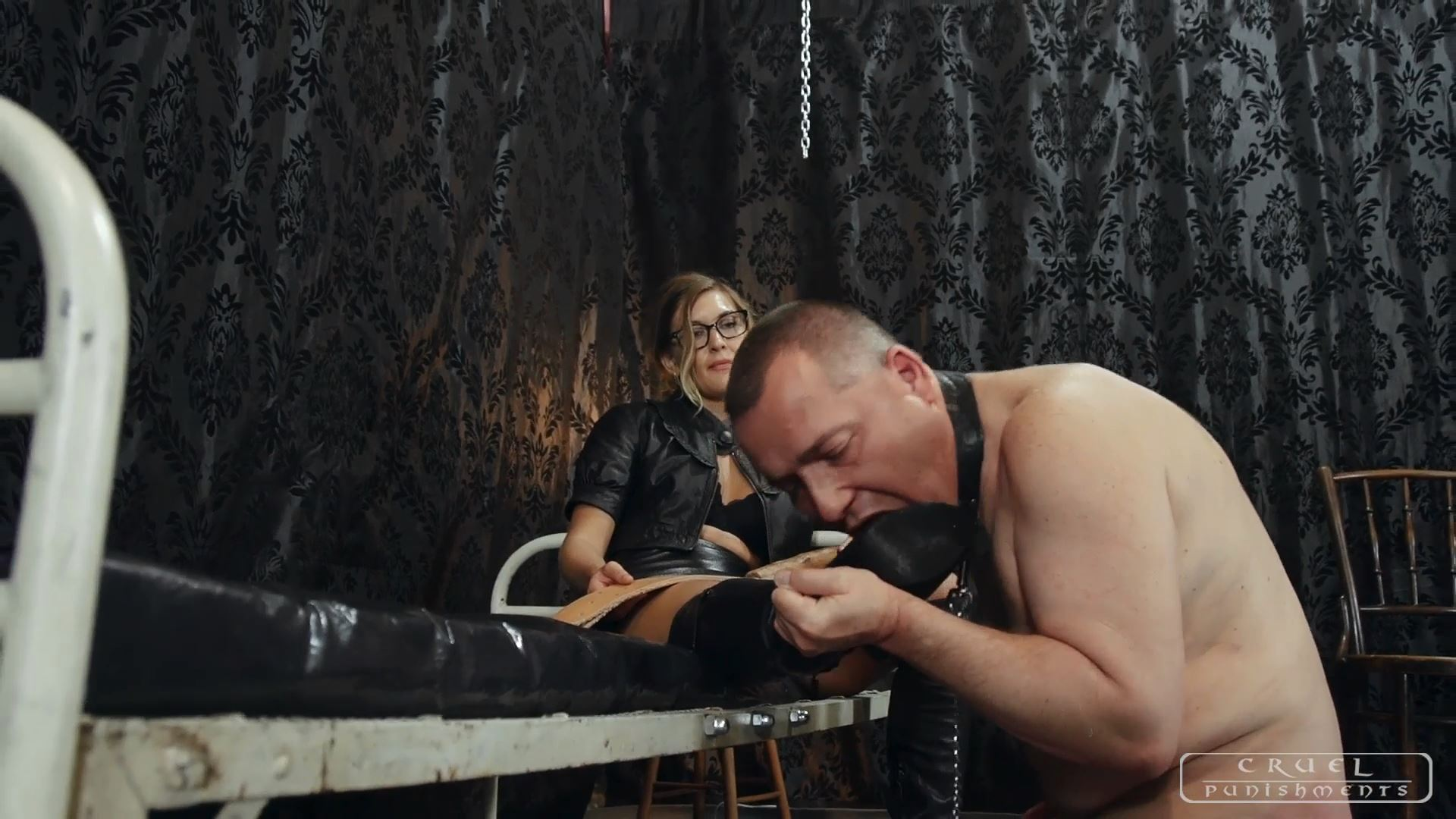 Mistress Bloodymary In Scene: Painful spanking punishment - CRUEL PUNISHMENTS - SEVERE FEMDOM - FULL HD/1080p/MP4