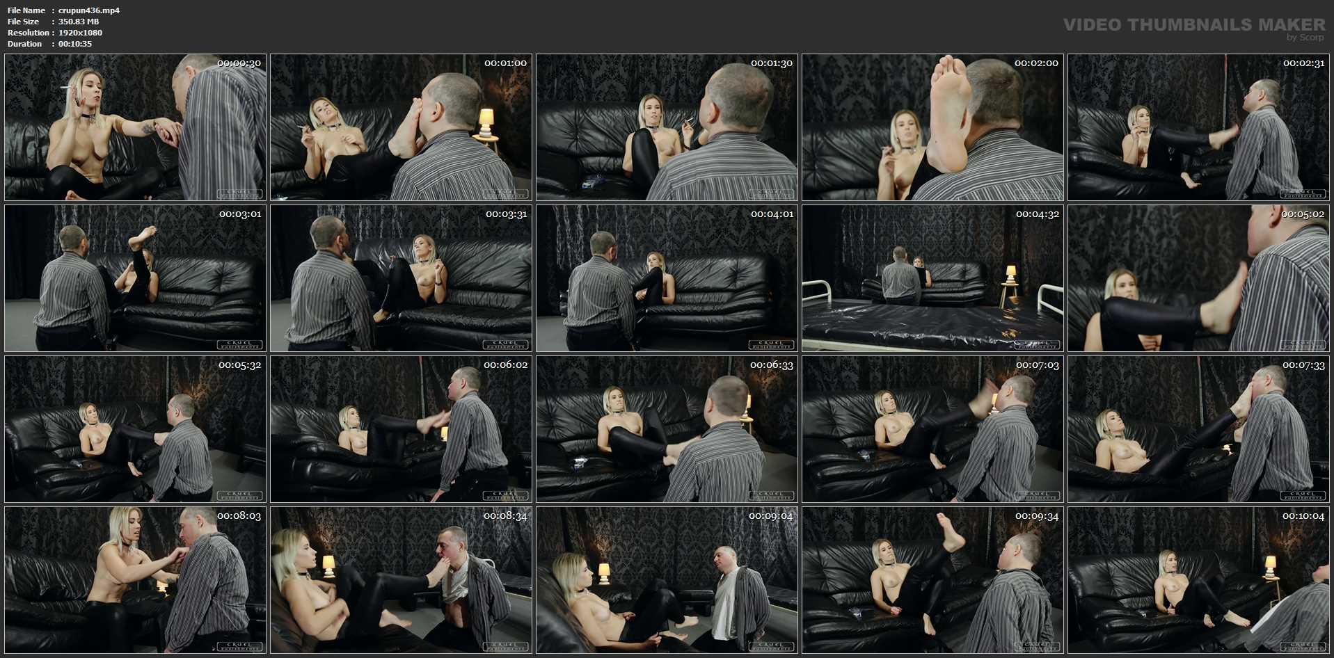 Mistress Anette In Scene: Slapped all over - CRUEL PUNISHMENTS - SEVERE FEMDOM - FULL HD/1080p/MP4