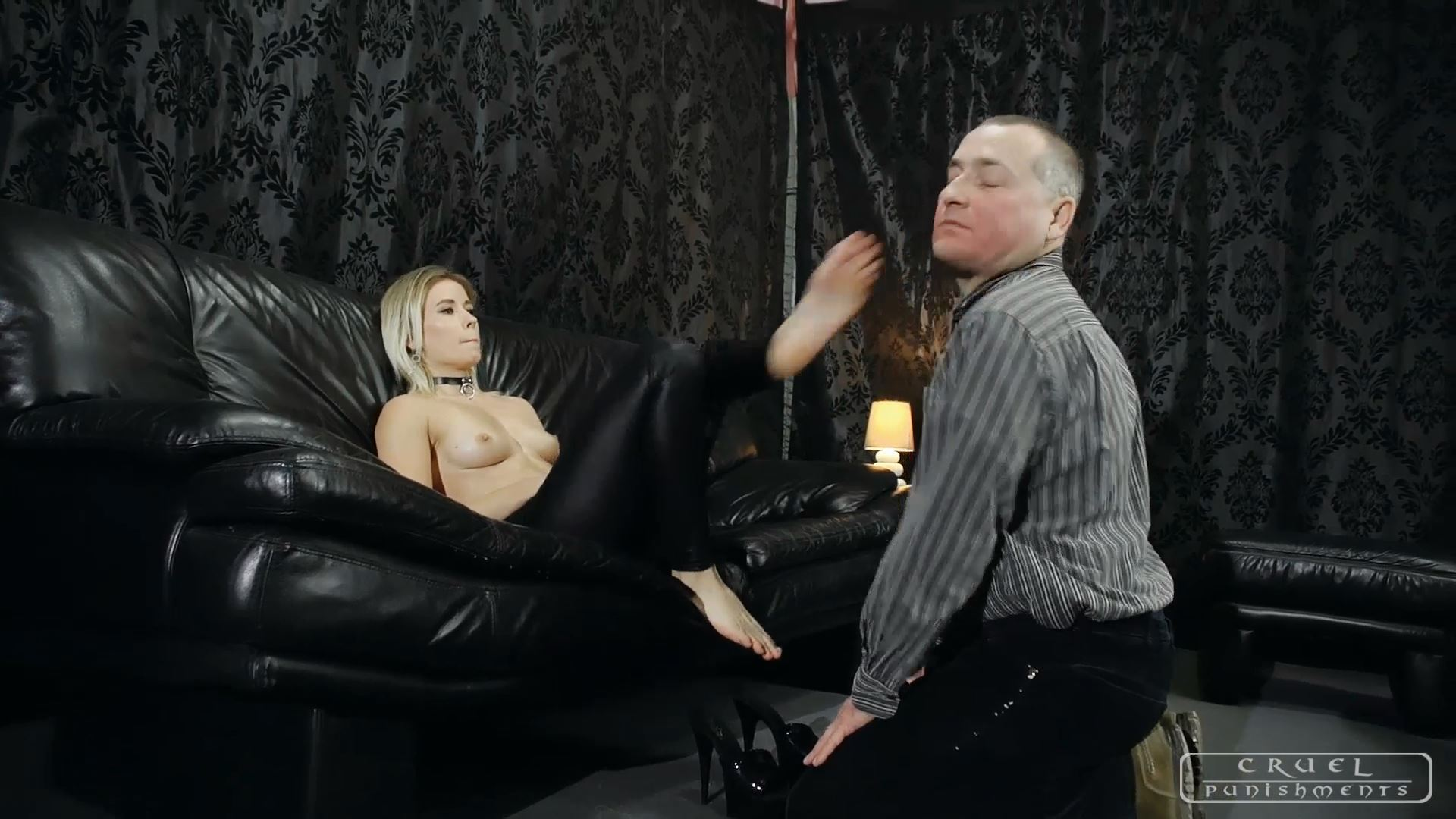 Mistress Anette In Scene: Slapped all over - CRUEL PUNISHMENTS - SEVERE FEMDOM - FULL HD/1080p/MP4